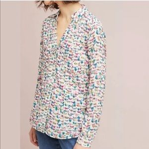 Maeve by ANTHRO Rochelle Butterfly Button Down